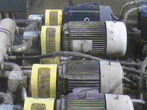 infrared motor bearing inspection image